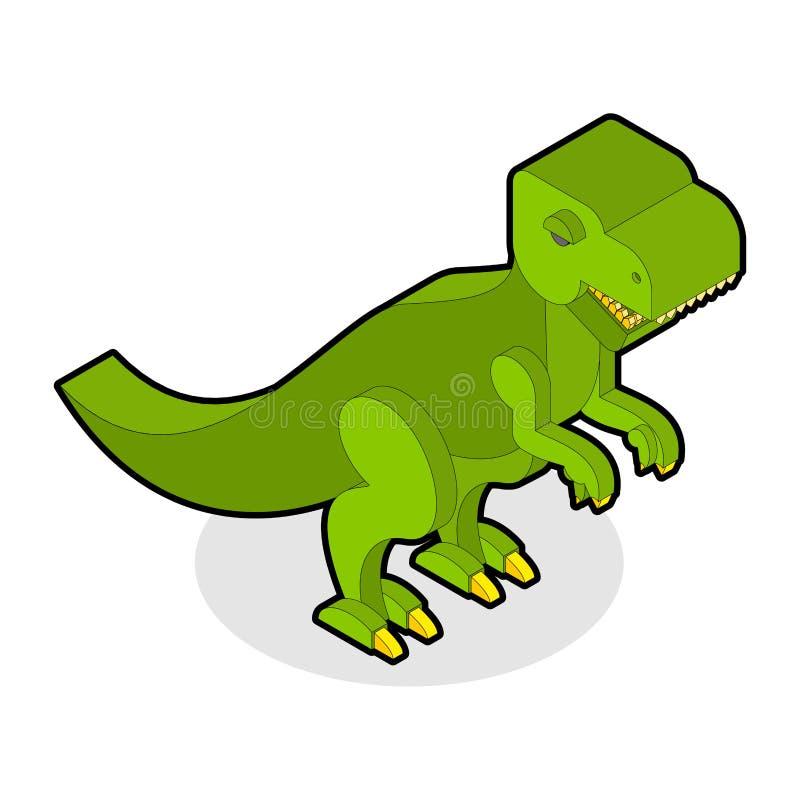 Dinosaura Tyrannosaurus isometric Prehistoryczny potwór z zębami royalty ilustracja