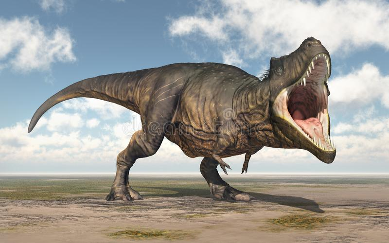 Dinosaura Tyrannosaurus Rex ilustracji