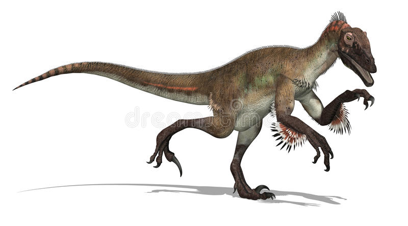 dinosaura utahraptor ilustracja wektor