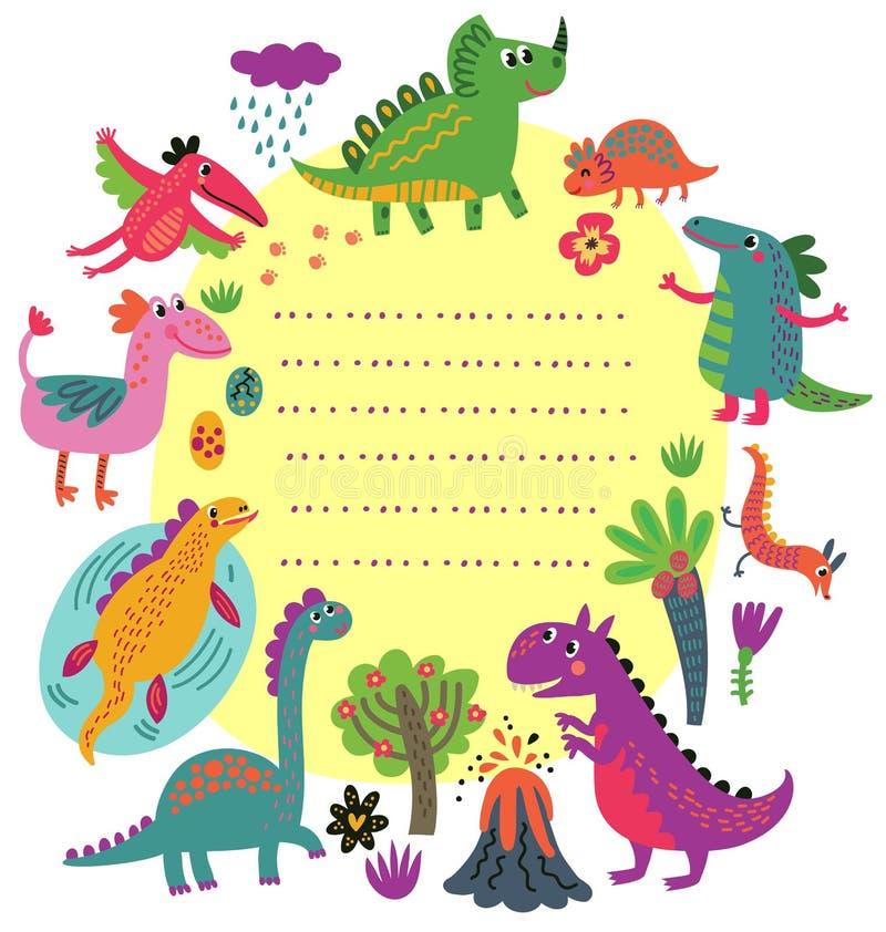 Dinosaura wektoru set obrazy royalty free