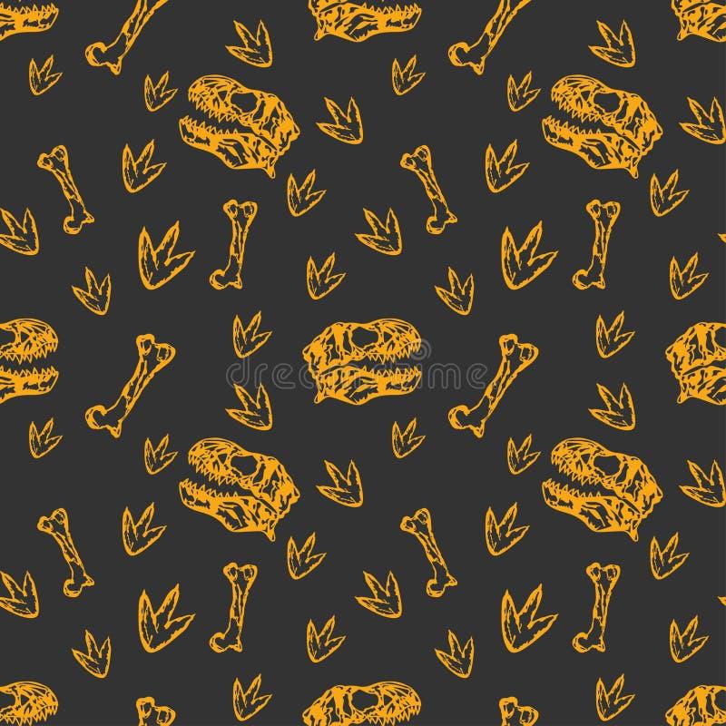 Dinosaura wzór ilustracja wektor