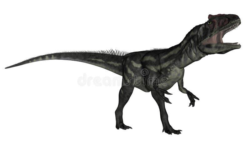 Dinosaure d'Allosaurus hurlant - 3D rendent illustration de vecteur