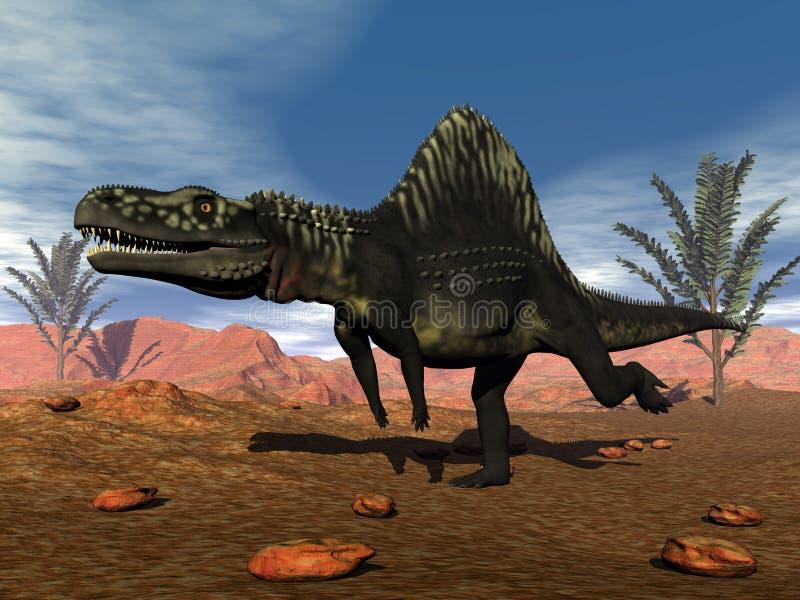 Dinosaure d'Arizonasaurus - 3D rendent illustration stock