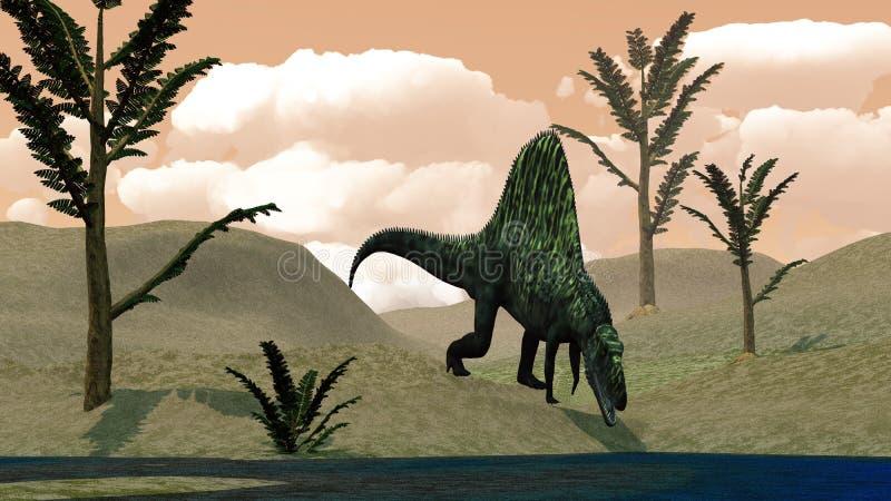 Dinosaure d'Arizonasaurus - 3D rendent illustration libre de droits