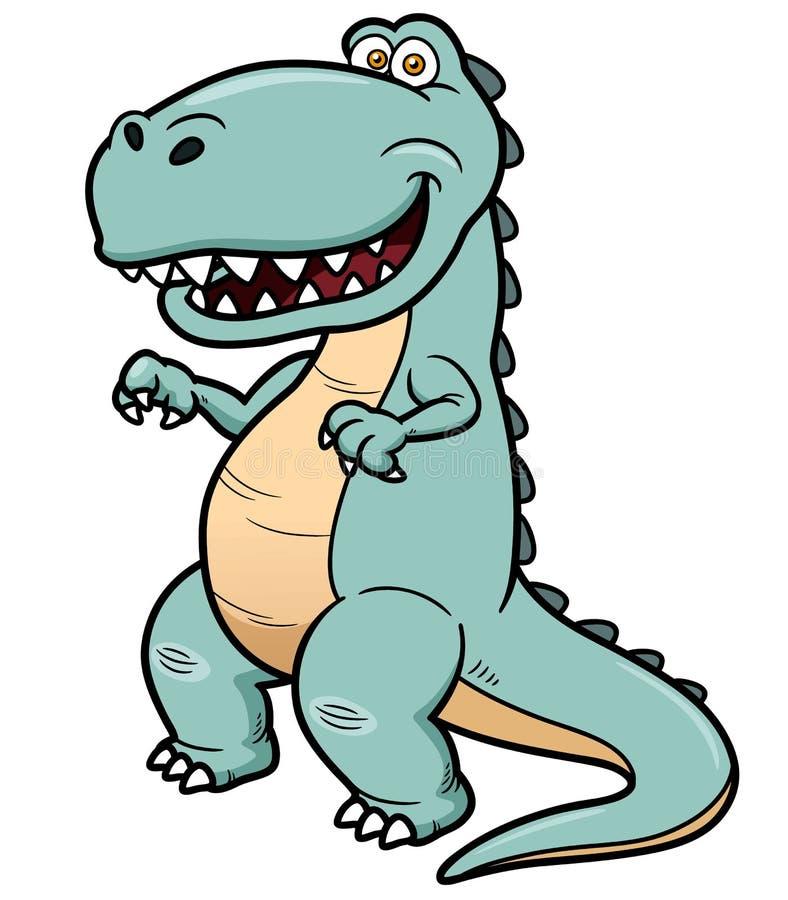Dinosaure de bande dessinée illustration de vecteur