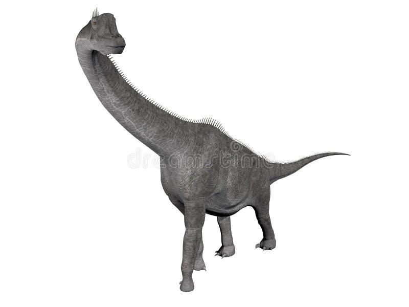 Dinosaure de Brachiosaurus - 3D rendent illustration libre de droits