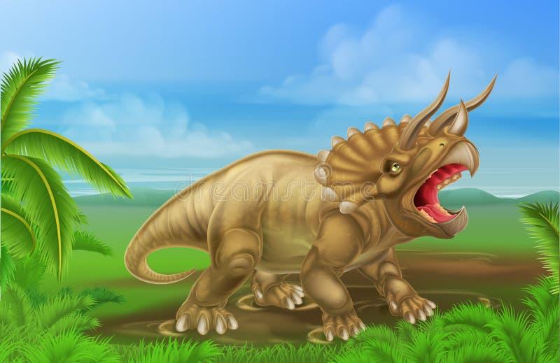 Dinosaure de Triceratops illustration stock