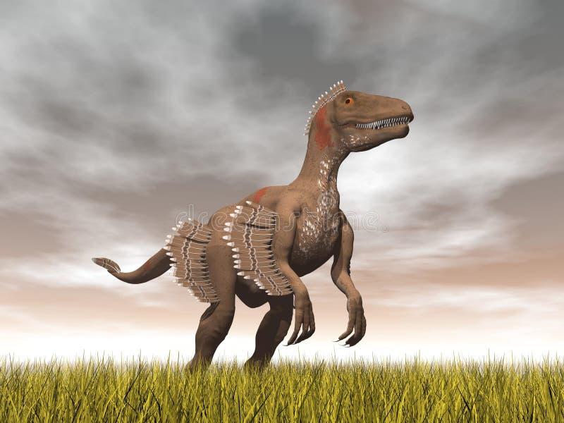 Dinosaure de Velociraptor - 3D rendent illustration stock