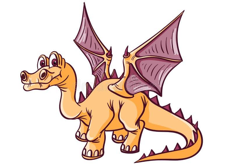 Dinosaure fantastique avec des ailes illustration libre de droits