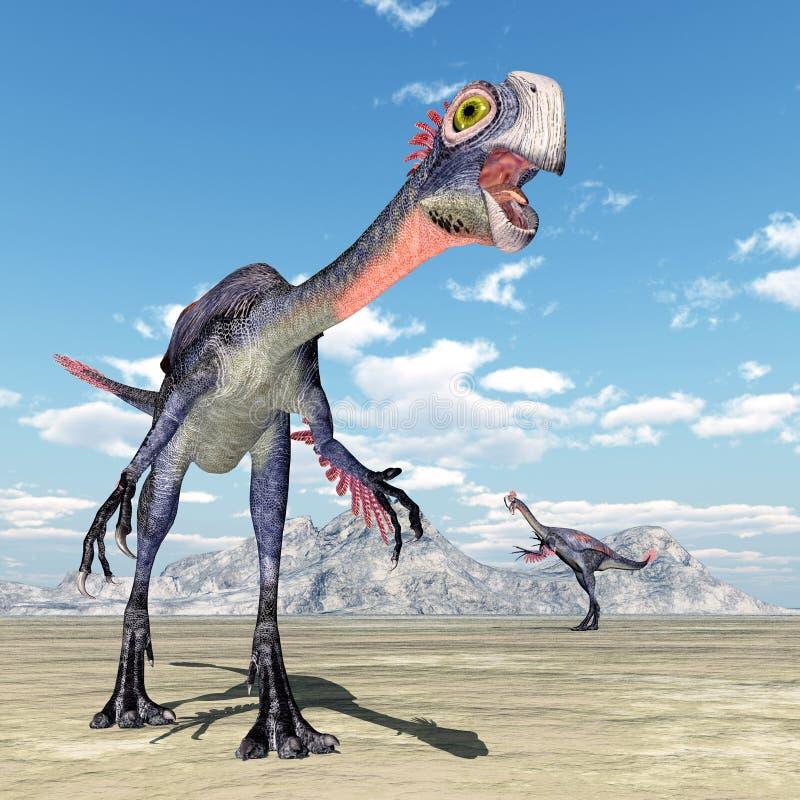 Dinosaure Gigantoraptor illustration stock