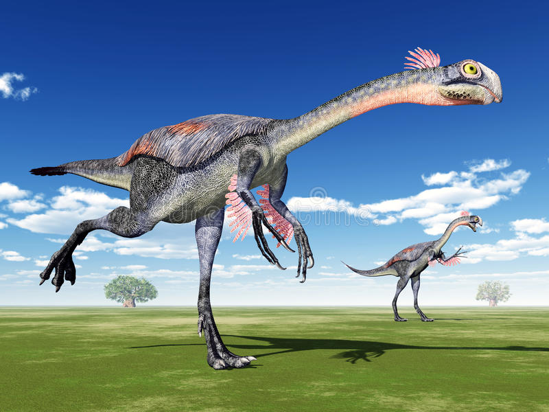 Dinosaure Gigantoraptor illustration de vecteur