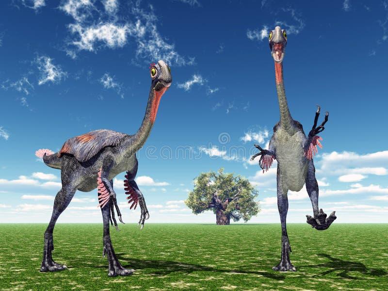 Dinosaure Gigantoraptor illustration libre de droits