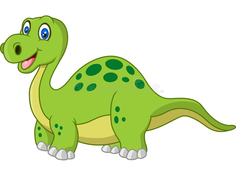 Dinosaure heureux de bande dessinée illustration libre de droits