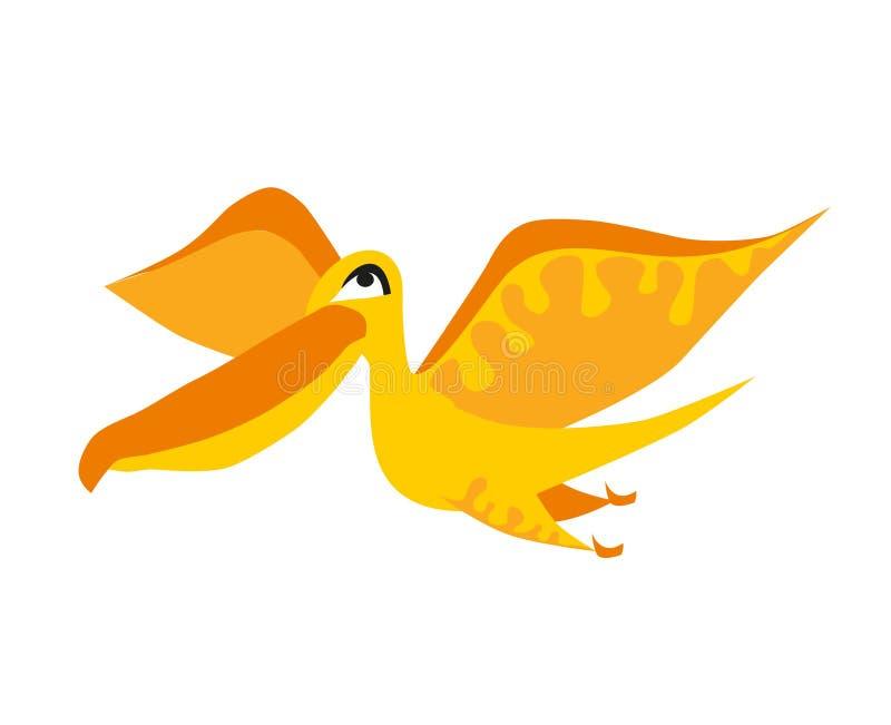 Dinosaure jaune mignon Dessin animé Dino Illustration de vecteur illustration stock
