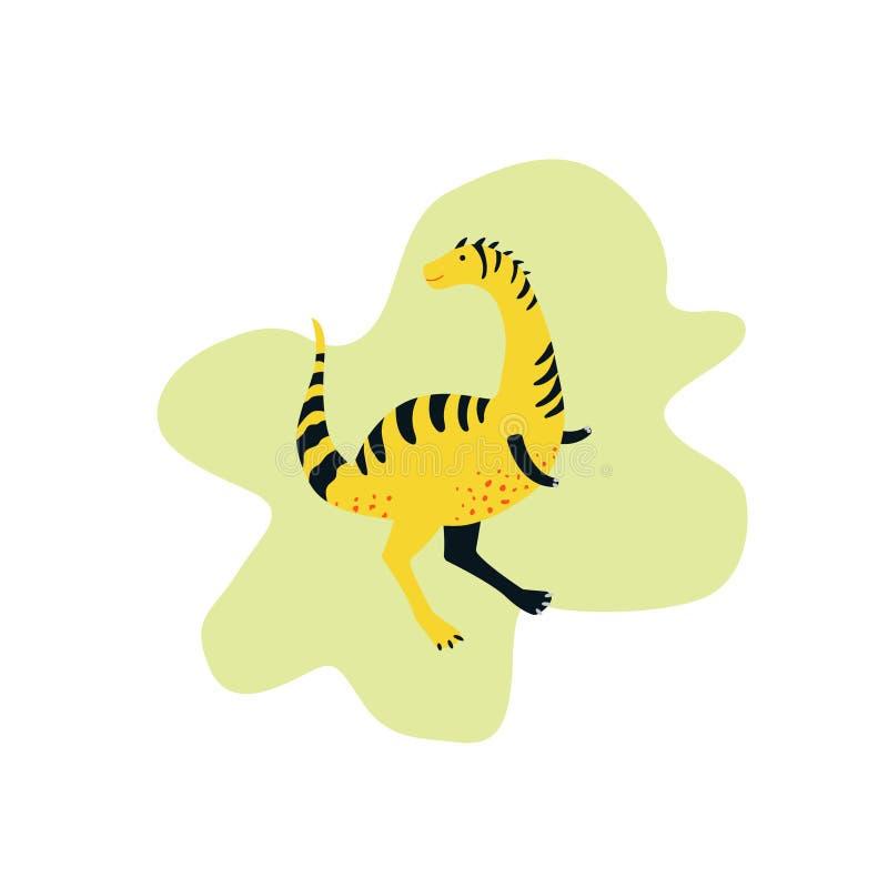 Dinosaure jaune mignon illustration de vecteur d'enfants illustration de vecteur