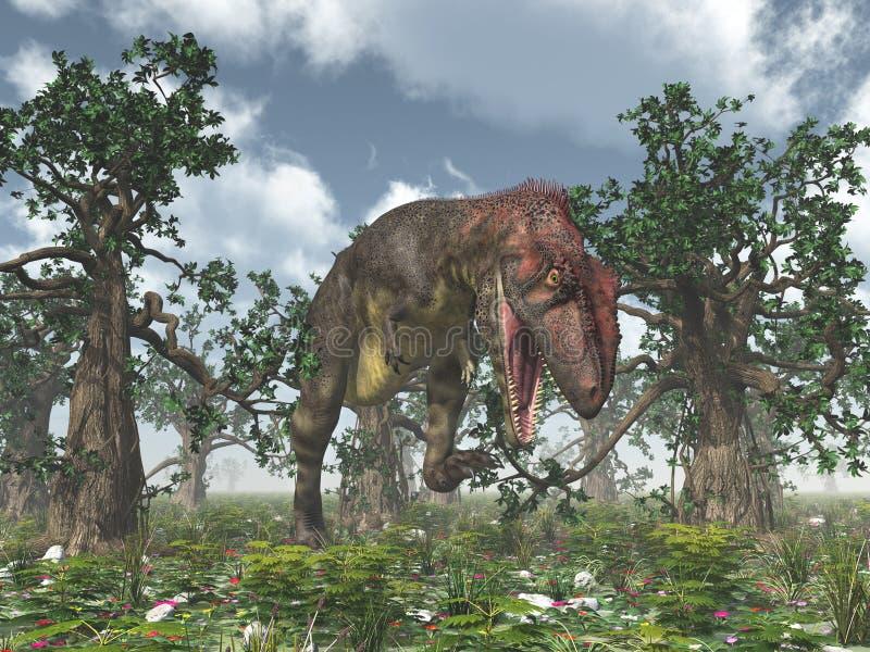Dinosaure Mapusaurus illustration de vecteur