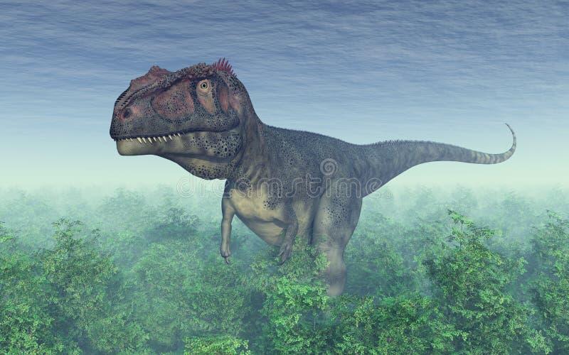 Dinosaure Mapusaurus illustration stock
