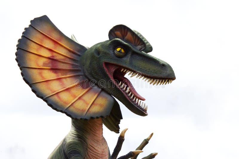 Dinosaure montrant ses photos de dent-actions photographie stock libre de droits