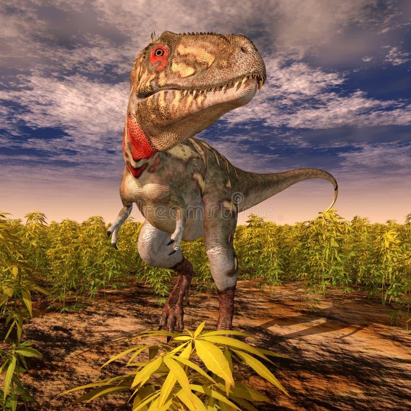 Dinosaure Nanotyrannus illustration libre de droits
