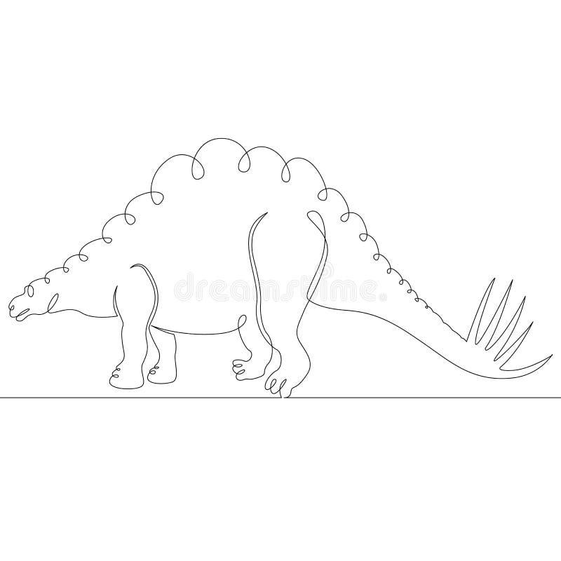 Dinosaure, reptile, jurassique, animal, monstre, éteint, sauvage, antique, créature illustration stock