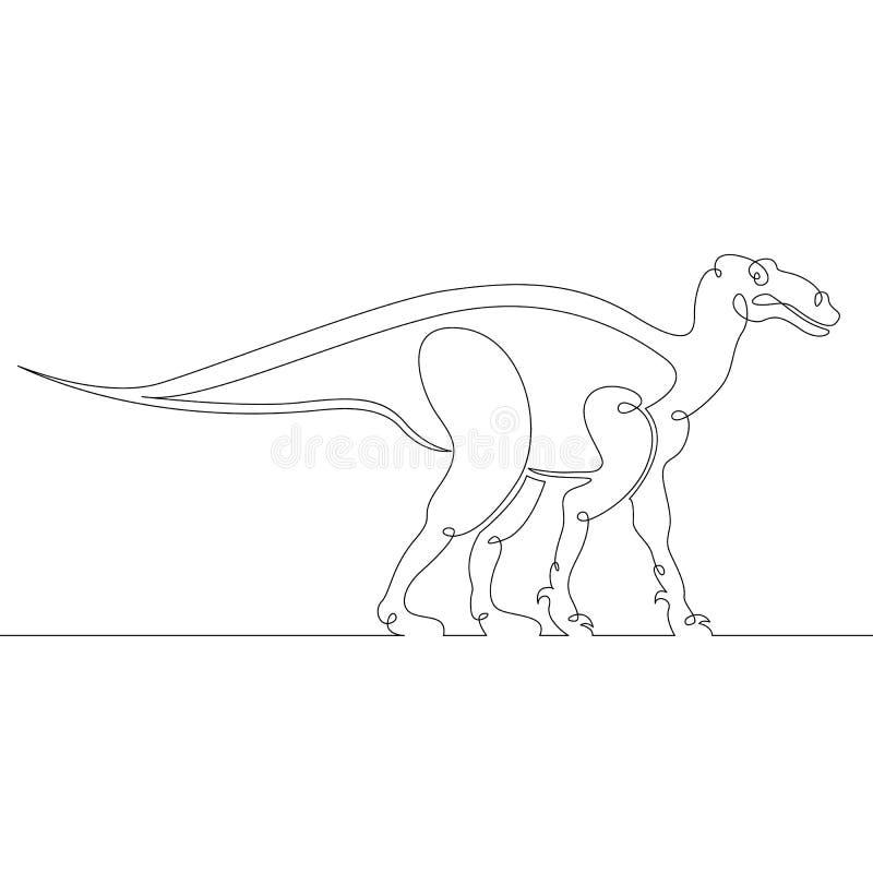 Dinosaure, reptile, jurassique, animal, monstre, éteint, sauvage, antique, créature illustration de vecteur