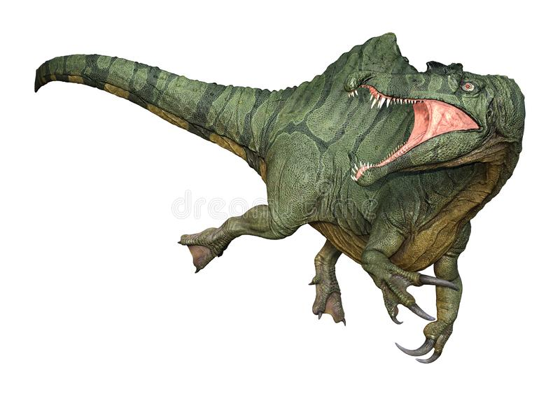 dinosaure Spinosaurus du rendu 3D sur le blanc illustration stock