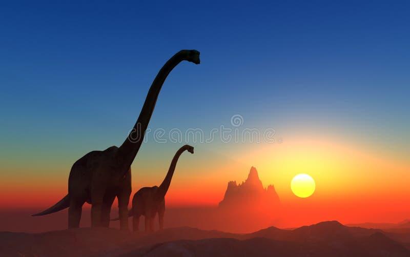 Dinosauren vektor illustrationer