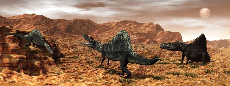 Dinosaures d'Arizonasaurus - 3D rendent illustration de vecteur