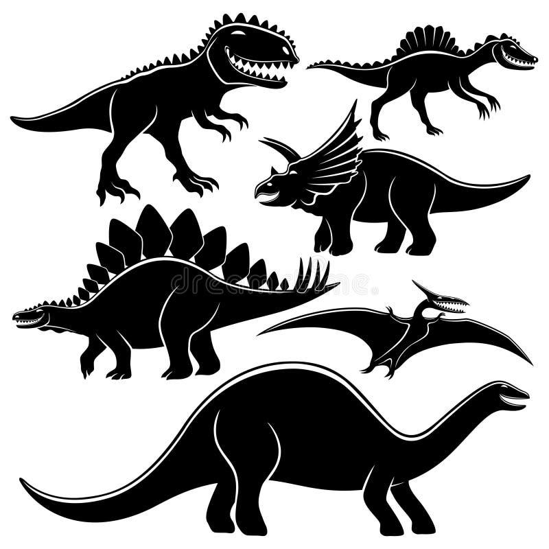 Dinosaures mignons réglés illustration libre de droits