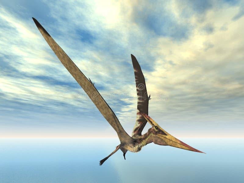 dinosaurflygpteranodon royaltyfri illustrationer