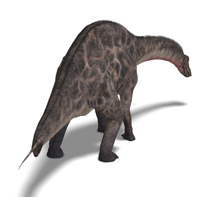 dinosaurframförande för dicraeosaurus 3d stock illustrationer