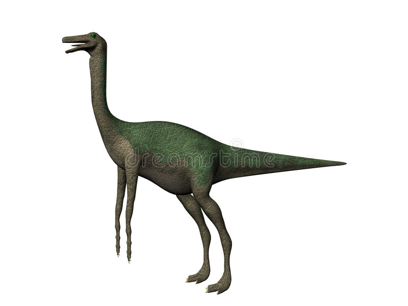 dinosaurgallimimus stock illustrationer