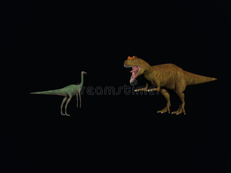 Dinosauri di combattimento royalty illustrazione gratis