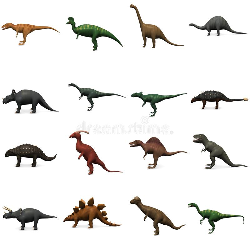 Dinosauri preistorici illustrazione di stock