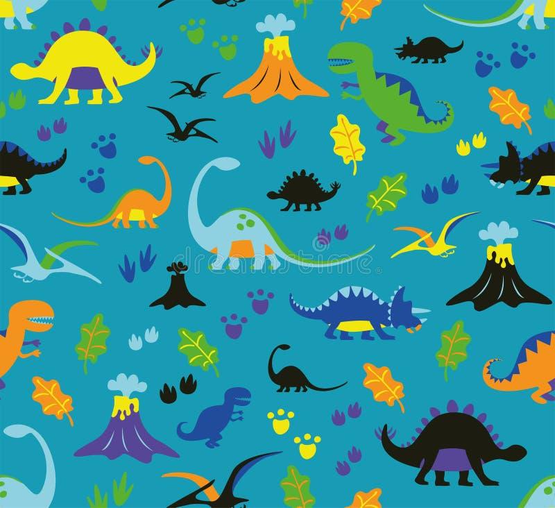 Dinosauri senza cuciture del modello royalty illustrazione gratis
