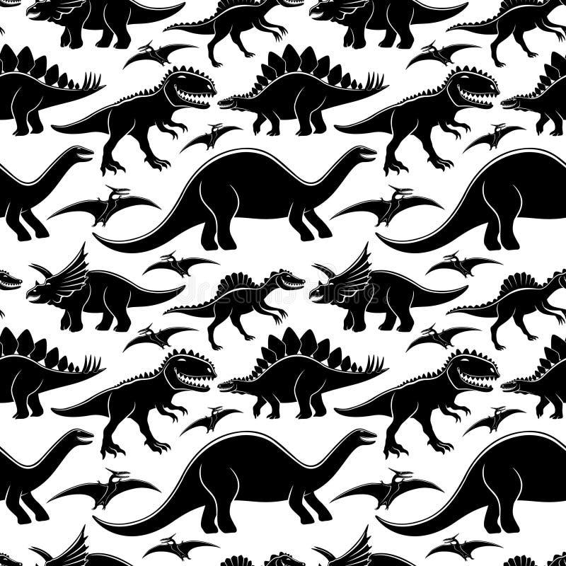 Dinosauri svegli su un fondo bianco illustrazione vettoriale