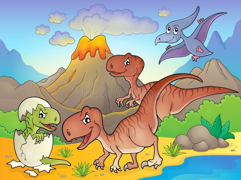 Dinosaurieämnebild 6 vektor illustrationer