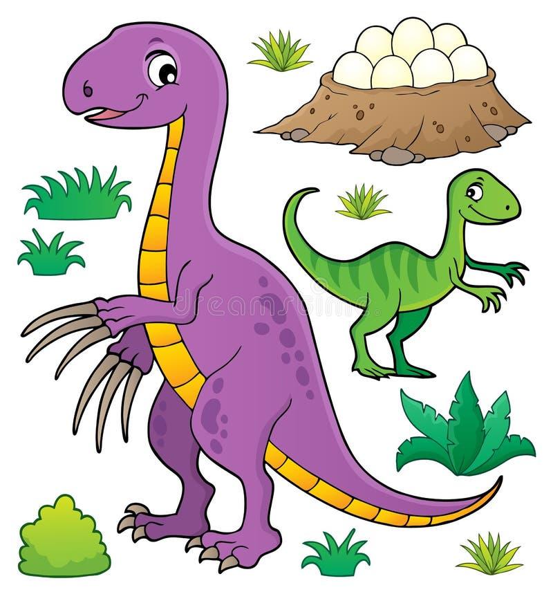Dinosaurieämneuppsättning 8 stock illustrationer