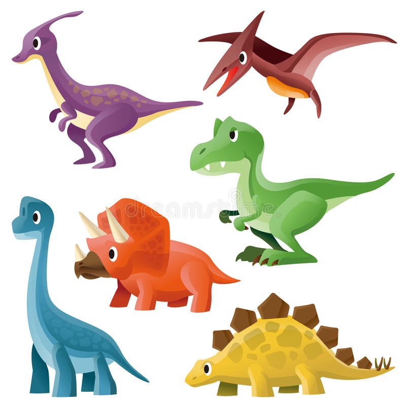 Dinosaurie stock illustrationer