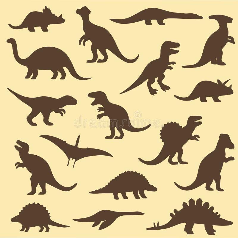 Dinosaurie djur stock illustrationer