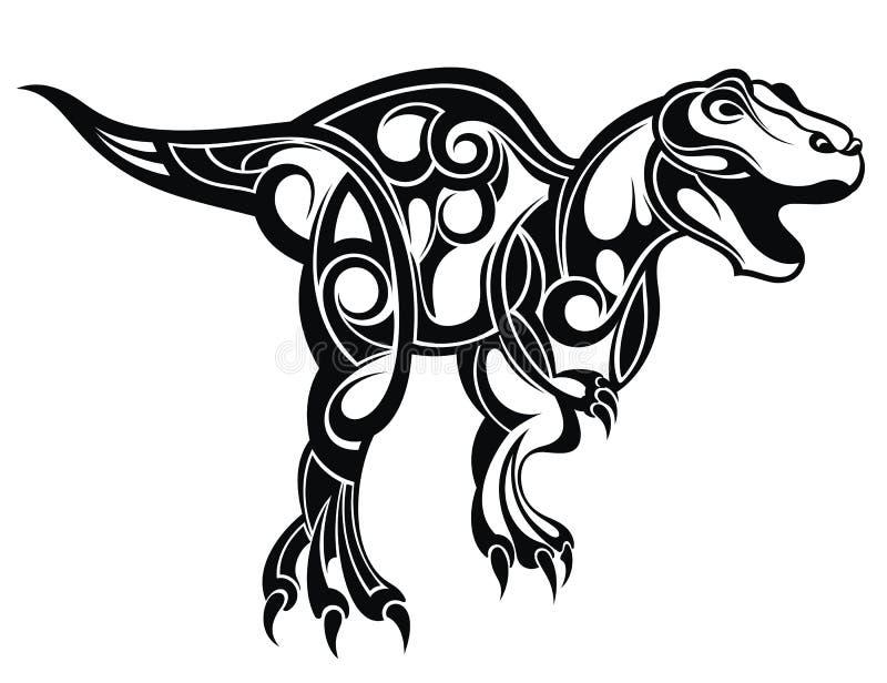 Dinosaurie för din design också vektor för coreldrawillustration royaltyfri illustrationer