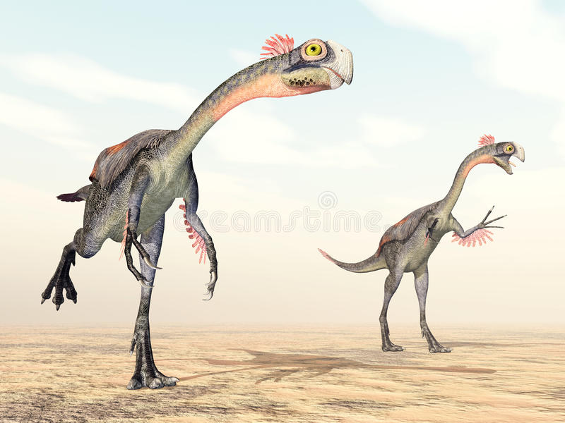 Dinosaurie Gigantoraptor stock illustrationer