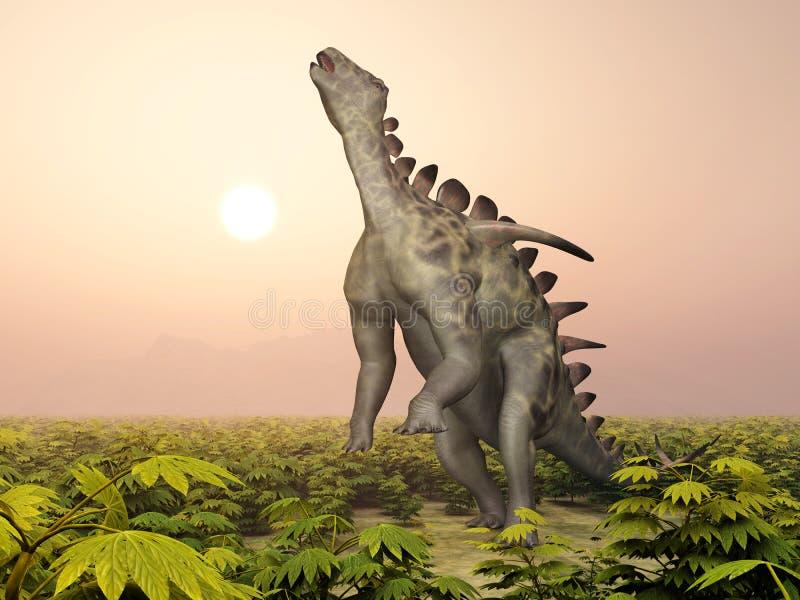 Dinosaurie Huayangosaurus vektor illustrationer
