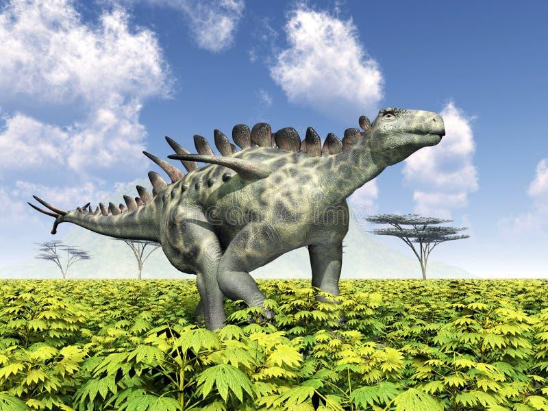 Dinosaurie Huayangosaurus royaltyfri illustrationer