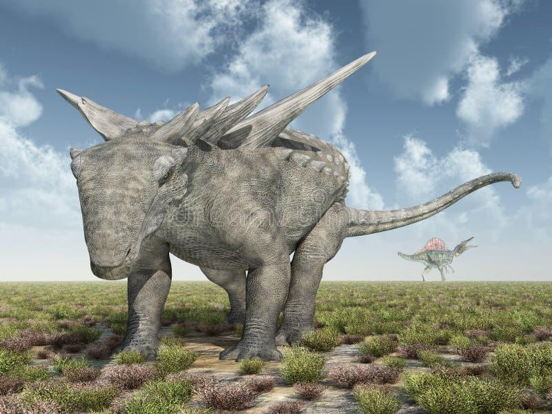 Dinosaurie Sauropelta vektor illustrationer