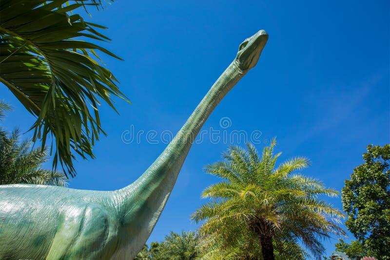 Dinosaurie Sauropoda, tredimensionellt som är krit-, illustration arkivfoto