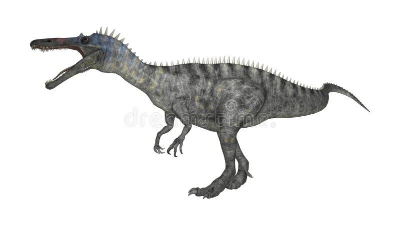 dinosaurie Suchomimus för tolkning 3D på vit vektor illustrationer