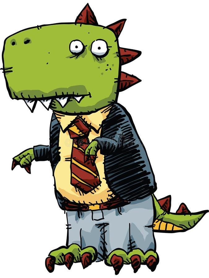 Dinosaurieaffärsman royaltyfri illustrationer