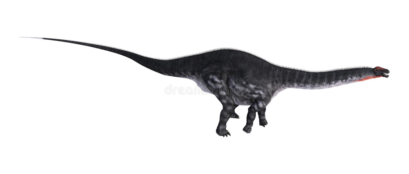 dinosaurieApatosaurus för tolkning 3D på vit stock illustrationer