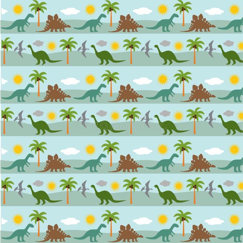 Dinosaurieband royaltyfri illustrationer